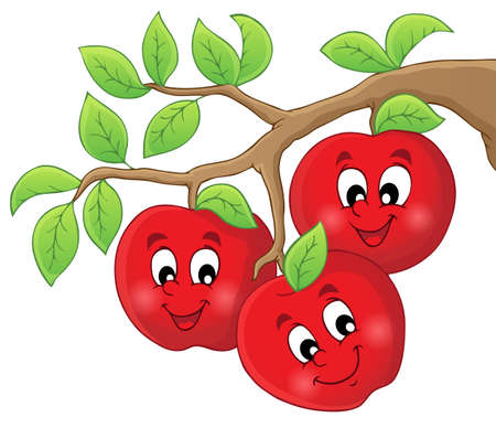 Image with apples Vector