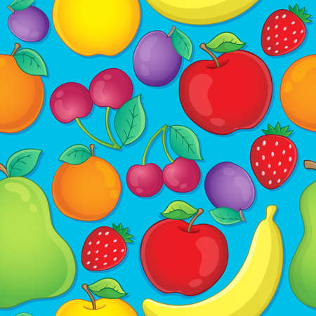 Seamless background fruits theme Vector