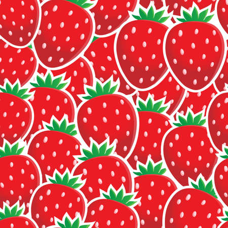 Seamless background fruit theme Çizim