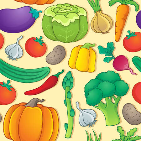Seamless background vegetable Vector
