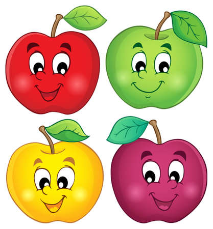 Various apples collection Illustration