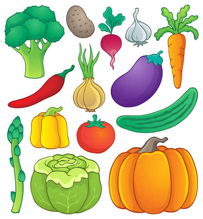 vegetable cartoon: Vegetable theme collection
