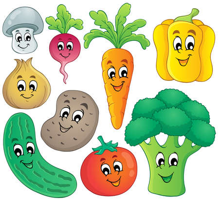 Vegetables theme collection
