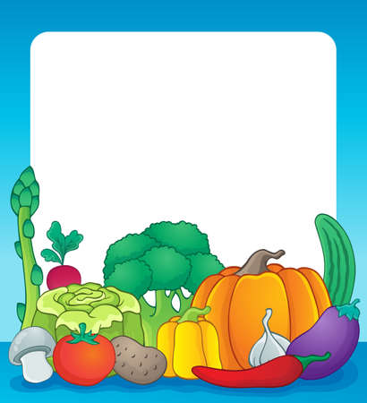Vegetables theme frame Vector