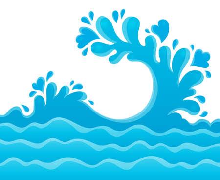 Water splash theme image Vector