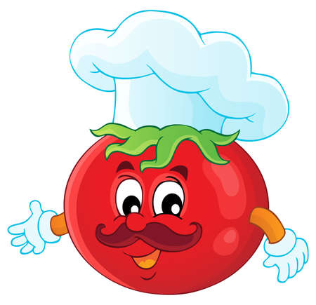 tomato cartoon: Vegetable theme image 3