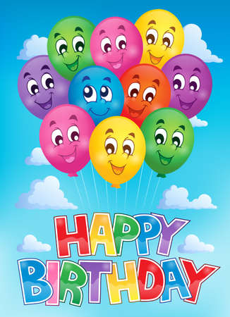 joyful: Balloons theme image   Illustration