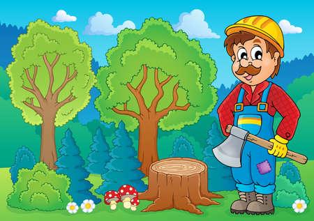 woodcutter: Image with lumberjack theme 2