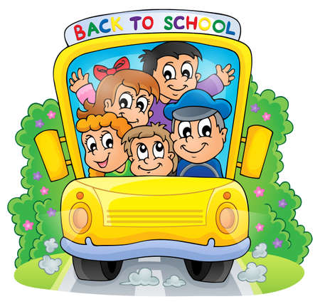 schoolbus: Image with school bus theme 2