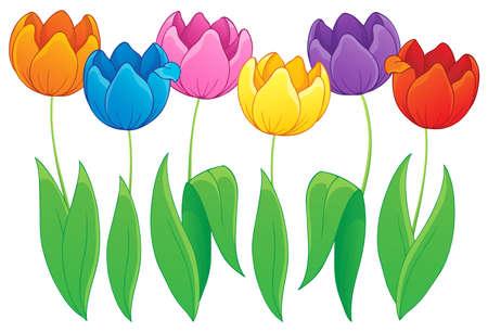 Immagine con tulipano tema fiore 2 Archivio Fotografico - 21055476
