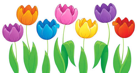 Image with tulip flower theme 3  Illustration