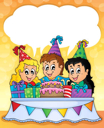 drawing table: Kids party theme image 2  Illustration