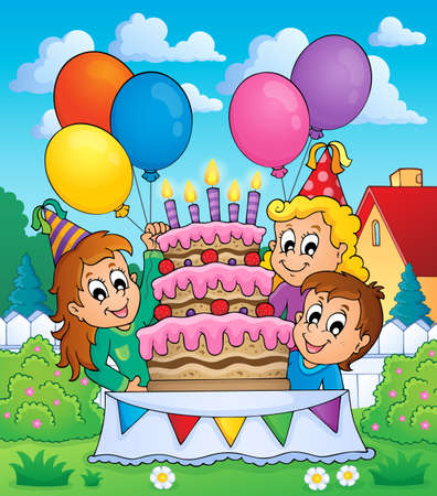 Kids party theme image 5  Illustration