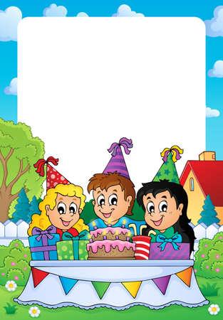 garden party: Party theme frame 2
