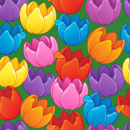 Seamless background flowery topic 3
