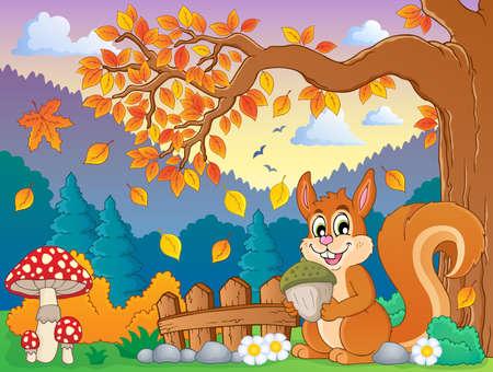 cartoon autumn: Autumn thematic