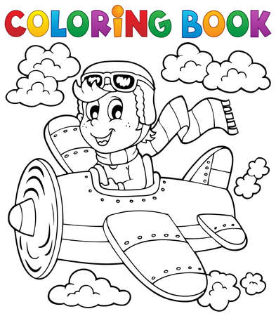 Coloring book airplane  Stock Vector - 21319089