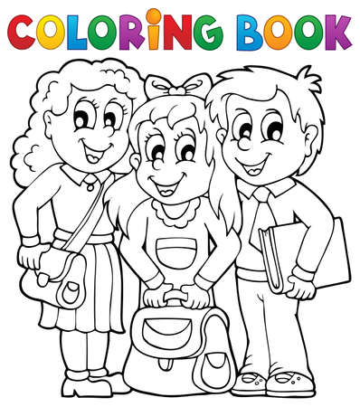 Coloring book pupil  Stock Vector - 21319090