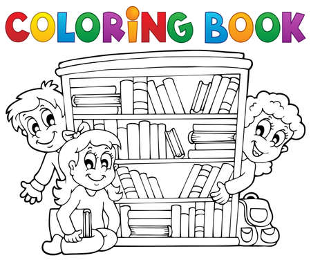 Coloring book pupil Stock Vector - 21319093