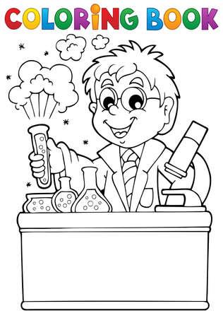 libro caricatura: Colorear la escuela libro