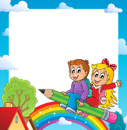 escuela caricatura: Capítulo con el alumno