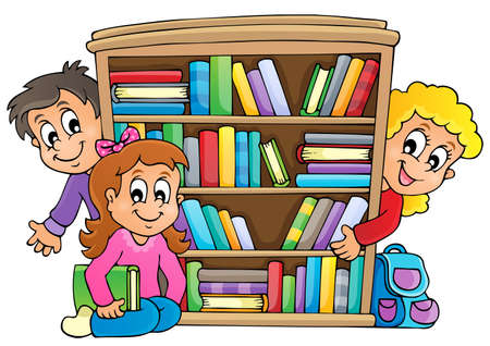 Resultado de imagen de biblioteca dibujo