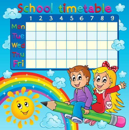 week: School timetable thematic