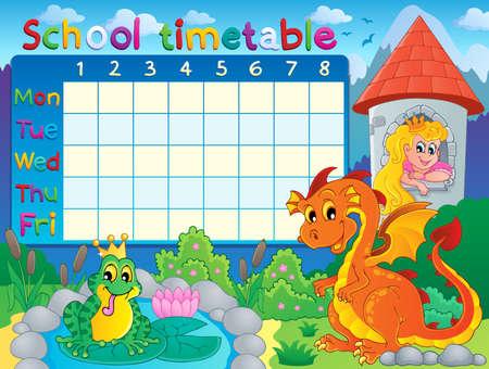 cronograma: Horario de la escuela temática Vectores