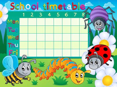School timetable topic
