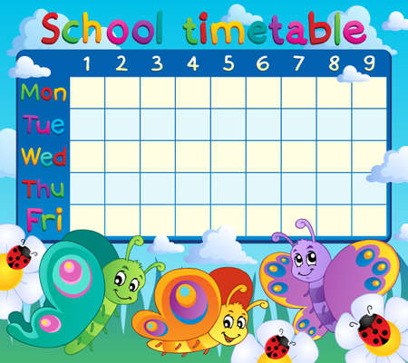timetable: School timetable topic