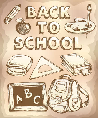 bookbag: Back to school topic 4 - eps10 vector illustration