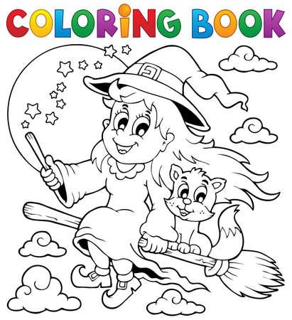 Eps10 vector illustratie - boek afbeelding Halloween 1 Kleurplaat