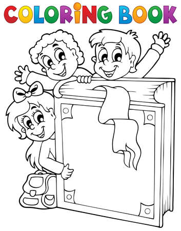 Coloring book kids theme 3 - eps10 vector illustration Stock Vector - 21571120