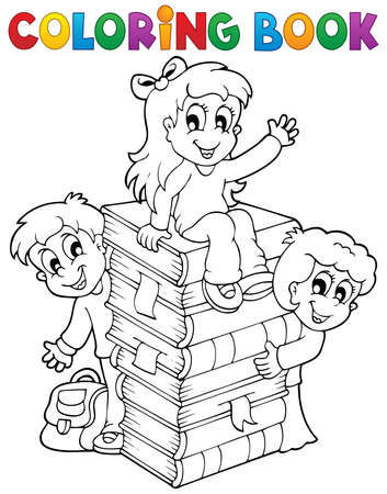 Coloring book kids theme 4 - eps10 vector illustration  Stock Vector - 21571121