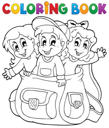 Coloring book kids theme 6 - eps10 vector illustration Stock Vector - 21571123