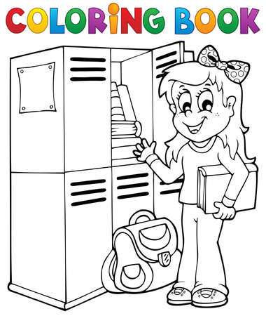Coloring book school topic 5 - eps10 vector illustration  Stock Vector - 21571124