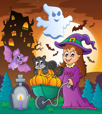 Halloween theme image 3 - eps10 vector illustration  Vector