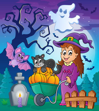 Halloween theme image 4 - eps10 vector illustration  Vector