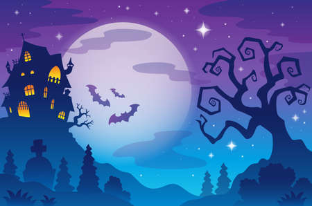 Halloween topic background 1 - eps10 vector illustration  Vector