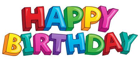 Happy birthday theme 4 - eps10 vector illustration Stock Vector - 21571142