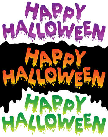 topic: Happy Halloween topic image 5 - eps10 vector illustration  Illustration