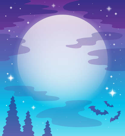Image with night sky topic 1 - eps10 vector illustration  Vector