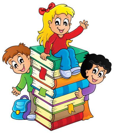 bookbag: Kids thematic image 4 - eps10 vector illustration