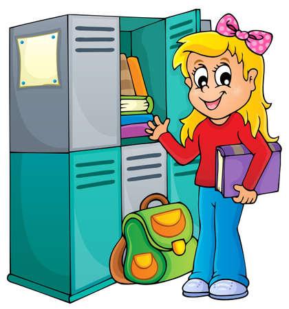 bookbag: School thematic image 1 - eps10 vector illustration  Illustration
