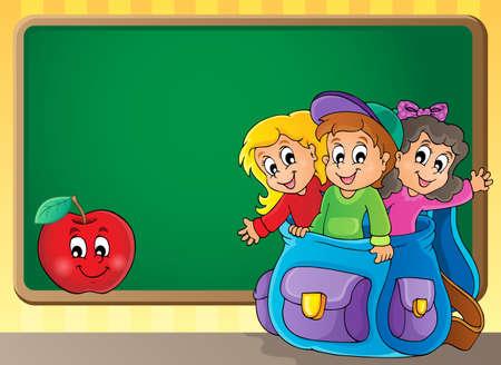 bookbag: School thematic image 2 - eps10 vector illustration  Illustration