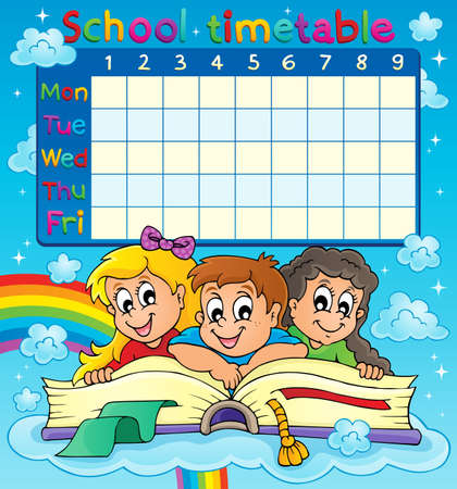timetable: School timetable thematic image 7 - eps10 vector illustration