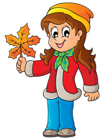 young leaf: Autumn thematic image  Illustration