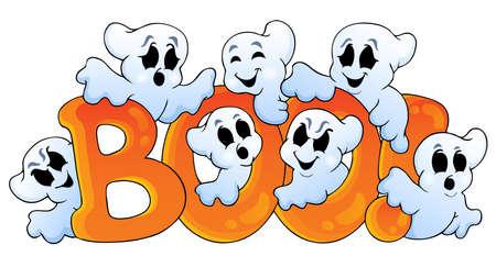haunt: Ghost theme image  Illustration