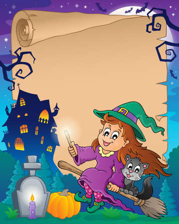 Halloween parchment Vector