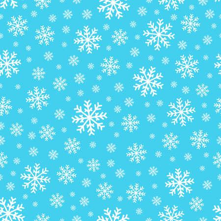 Seamless background snowflakes  Illustration